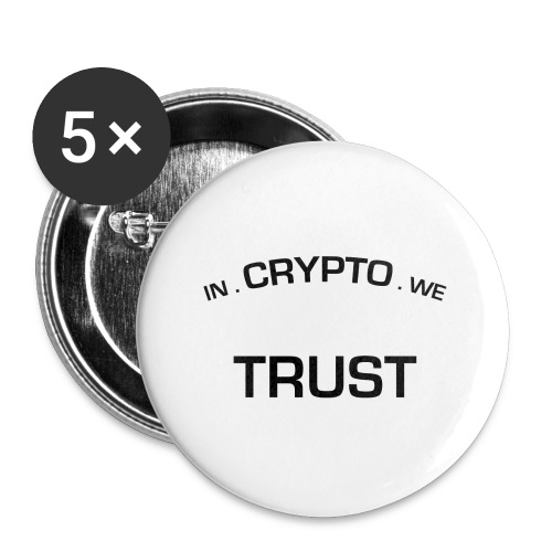 In Crypto we trust - Buttons klein 25 mm