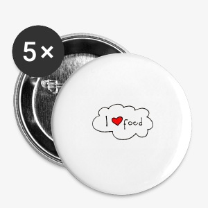 i love food - Buttons klein 25 mm