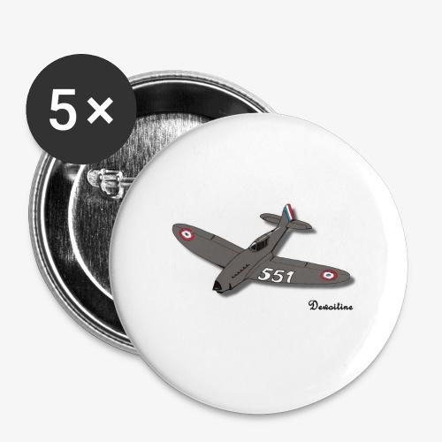 D551 - Lot de 5 petits badges (25 mm)
