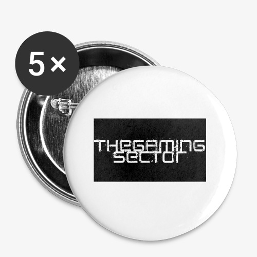 TheGamingSector Merchandise - Buttons small 1''/25 mm (5-pack)