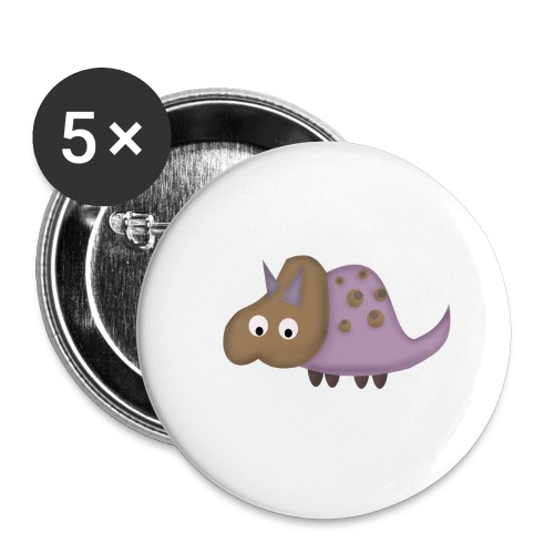 Dino 1 - Buttons small 1''/25 mm (5-pack)