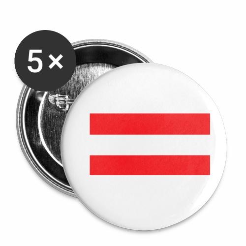 Oesterreich Weltmeisterschaft Fußball - Buttons klein 25 mm (5er Pack)