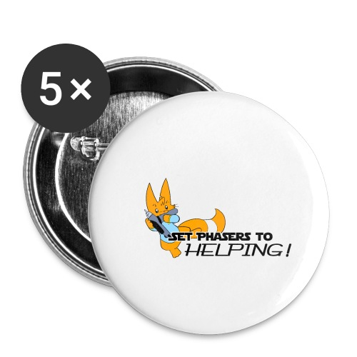 Set Phasers to Helping - Buttons small 1''/25 mm (5-pack)