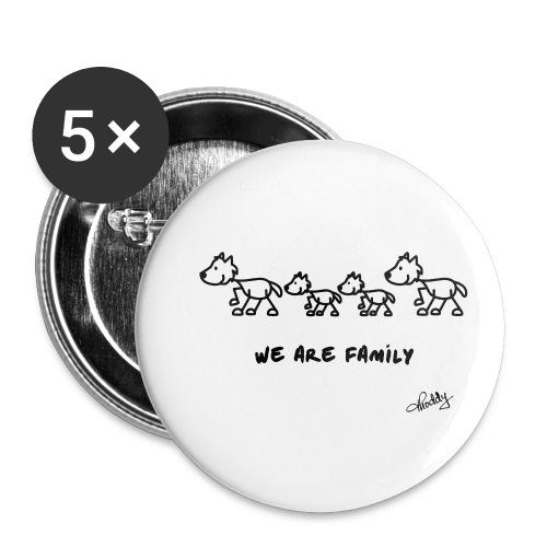 wearefamily - Buttons klein 25 mm (5er Pack)