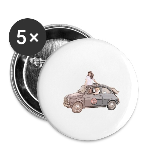 Ma Titine 500 - Lot de 5 petits badges (25 mm)