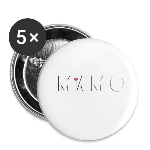 MAMO - Confezione da 5 spille piccole (25 mm)