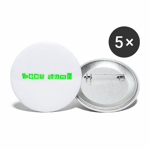 green thumb - Buttons klein 25 mm (5er Pack)