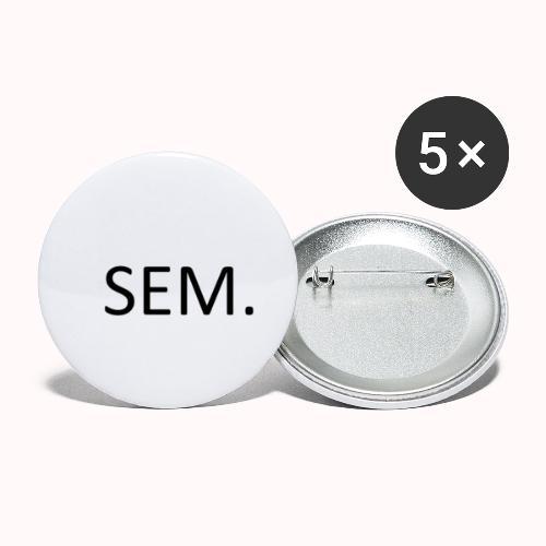 Sem. - Buttons klein 25 mm (5-pack)