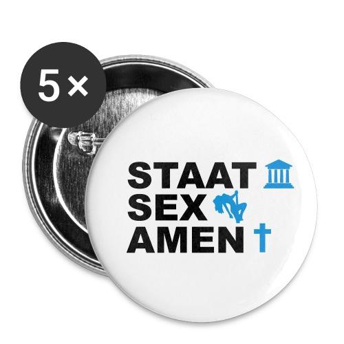 Staatsexamen / Staat Sex Amen - Buttons klein 25 mm (5er Pack)