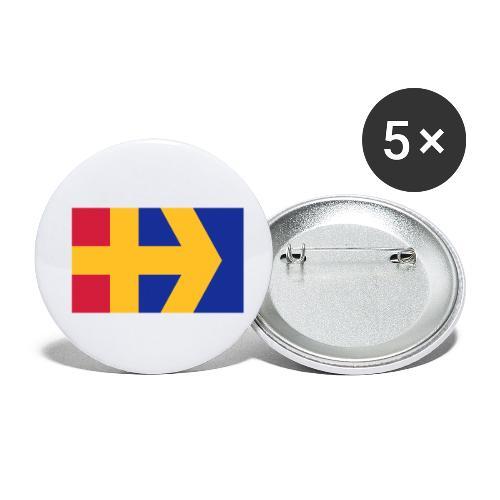 Åbolands flagga - Rintamerkit pienet 25 mm (5kpl pakkauksessa)
