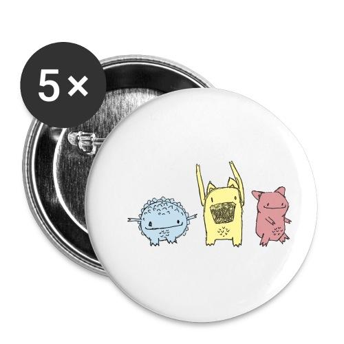 Little Monster friends02 - Buttons klein 25 mm (5er Pack)