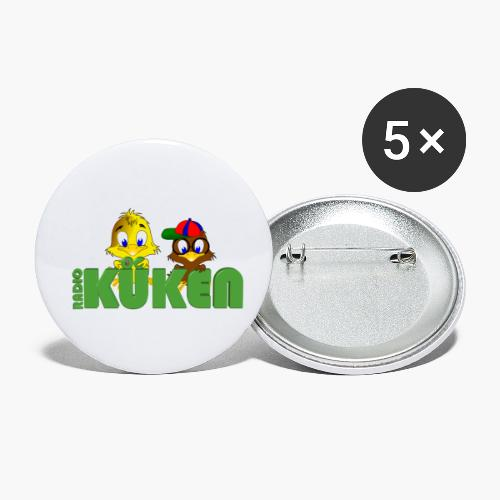 Radio Küken DIE ZWEI - Buttons klein 25 mm (5er Pack)