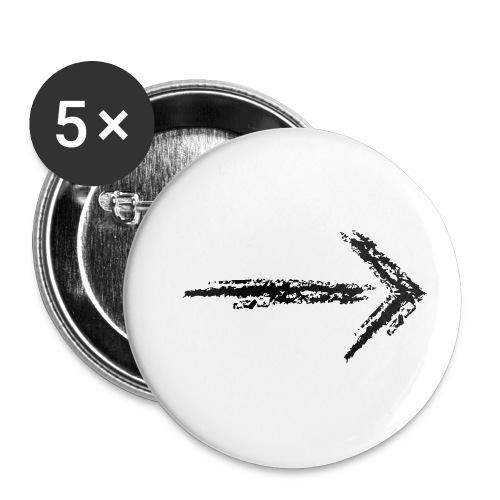 Wegzeichen folgen - Kreidestrich - Farbe wählbar - Buttons klein 25 mm