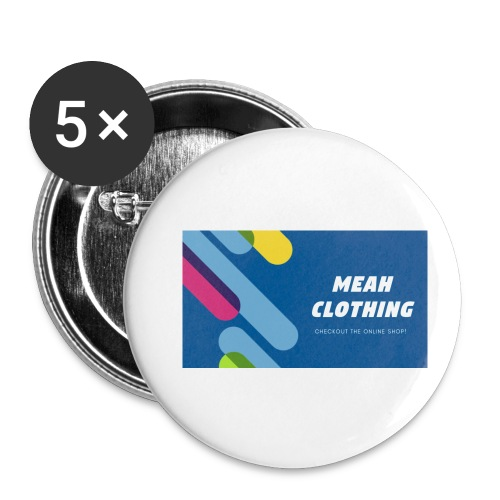 MEAH CLOTHING LOGO - Buttons small 1''/25 mm (5-pack)