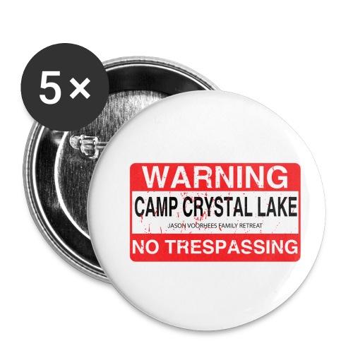 Camp Crystal Lake No Trespassing - Lot de 5 petits badges (25 mm)