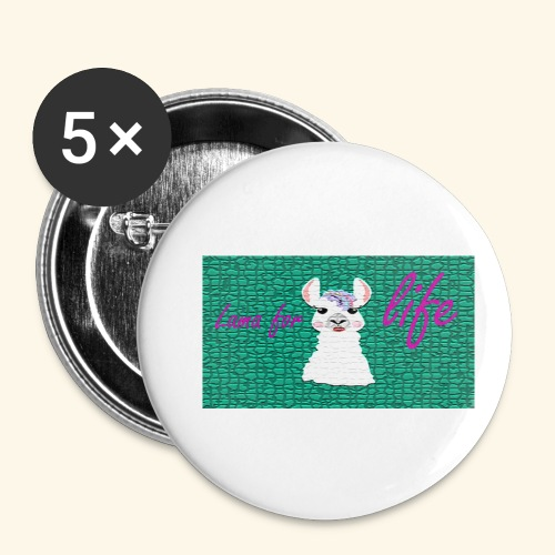 lama / alpaca - Buttons klein 25 mm (5er Pack)