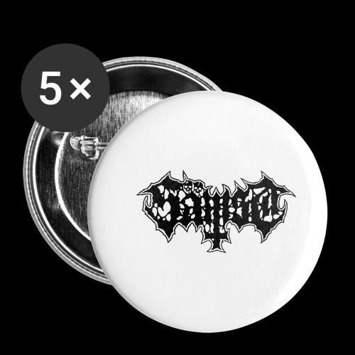 Sämst logo black - Små knappar 25 mm