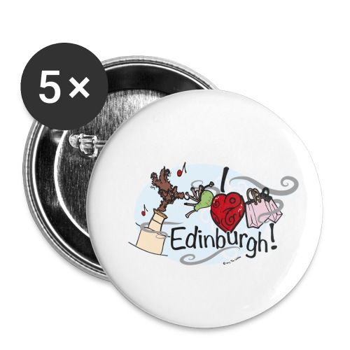 I love Edinburgh - Buttons small 1''/25 mm (5-pack)