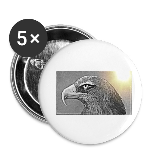 Aigle majestueux - Lot de 5 petits badges (25 mm)