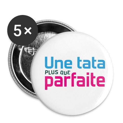 Tata plus que parfaite - Lot de 5 petits badges (25 mm)