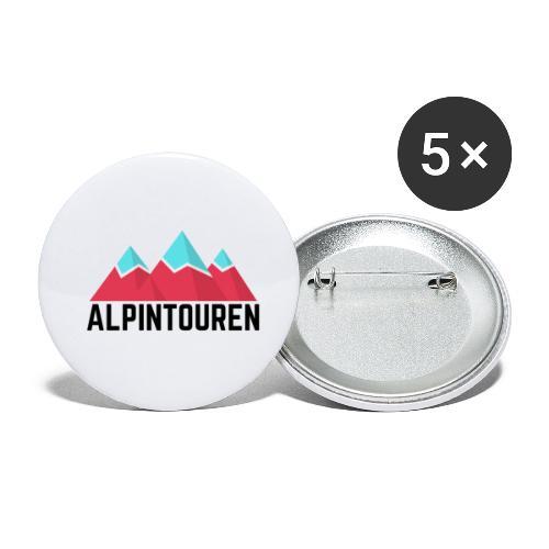 Alpintouren - Buttons klein 25 mm (5er Pack)