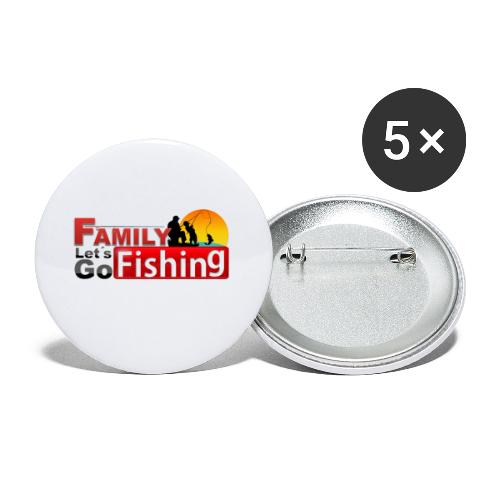FAMILY LET´S GO FISHING FONDO - Paquete de 5 chapas pequeñas (25 mm)