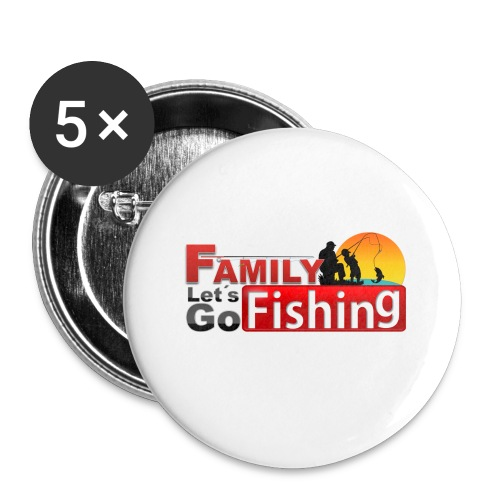 FAMILY LET'S GO FISHING FUND - Buttons small 1''/25 mm (5-pack)