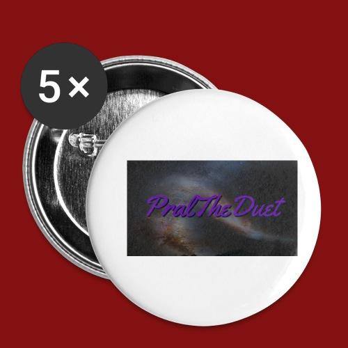 PralTheDuet Loggan - Små knappar 25 mm (5-pack)