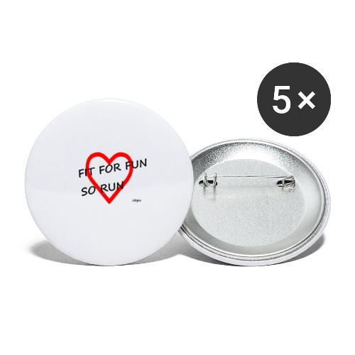 fit for fun - Buttons klein 25 mm (5er Pack)