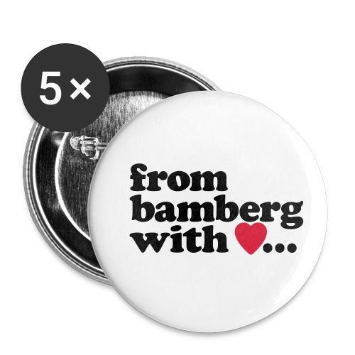 From Bamberg With Love - Buttons klein 25 mm (5er Pack)