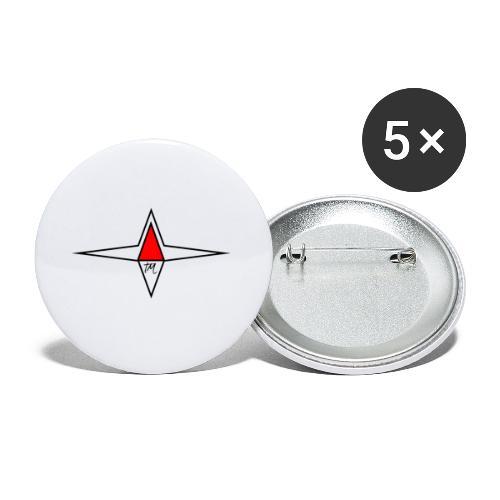 étoile TM - Lot de 5 petits badges (25 mm)