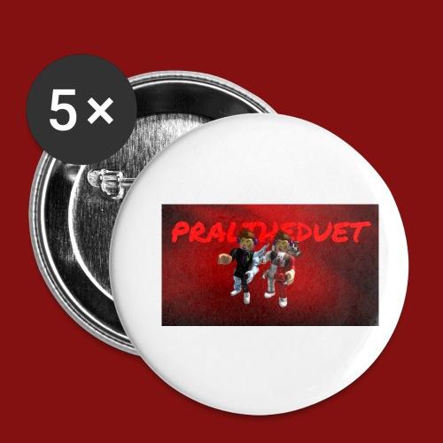 Pral - Små knappar 25 mm (5-pack)