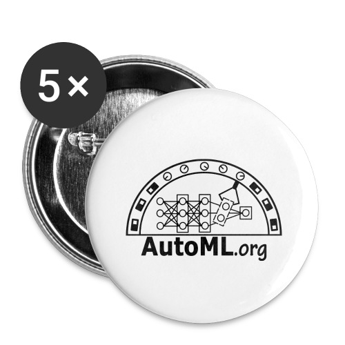 automl_org_black - Buttons small 1''/25 mm (5-pack)