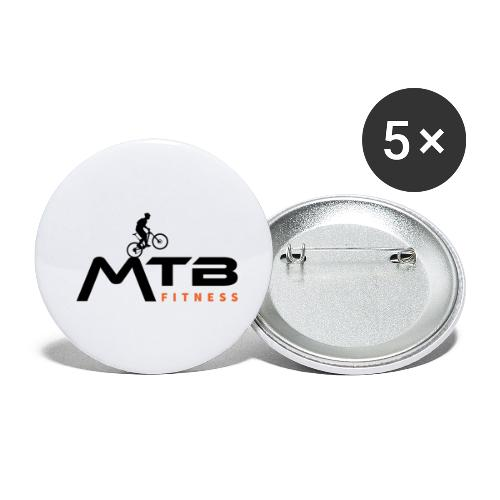 Subtle MTB Fitness - Black Logo - Buttons small 1''/25 mm (5-pack)