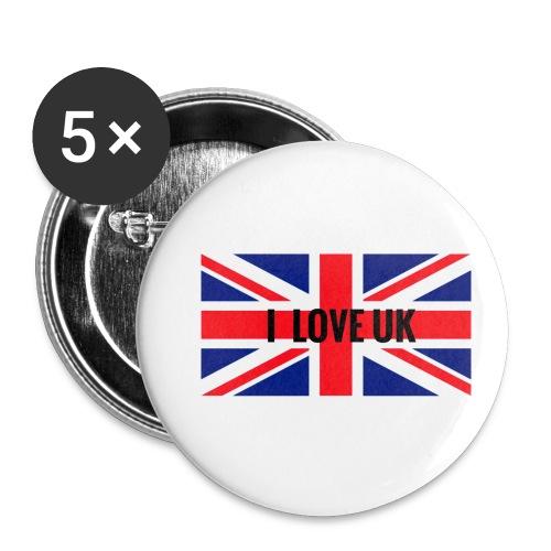 UK T-Shirt - Buttons klein 25 mm (5er Pack)