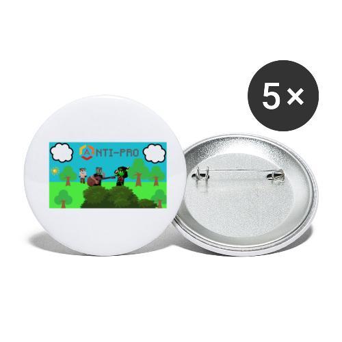 Maglietta Immagine Mario Anti-Pro - Confezione da 5 spille piccole (25 mm)