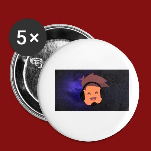 ProfilBild RymdBakgrund - Små knappar 25 mm (5-pack)