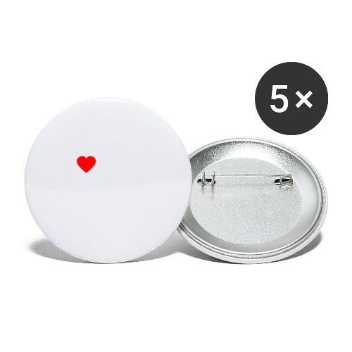 I ❤️ FFWB #DAHOAM - Buttons klein 25 mm (5er Pack)