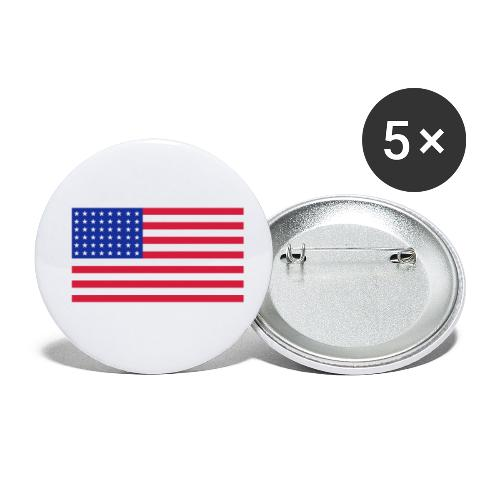 AVM 48 star flag in 3 color RGB VECTOR - Buttons klein 25 mm (5-pack)