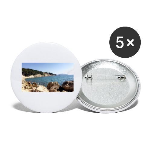 Corniche - Lot de 5 petits badges (25 mm)