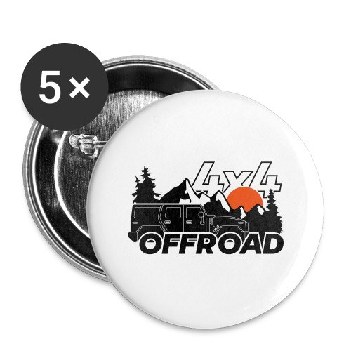 Offroad 4x4 Jeep Logo - Buttons klein 25 mm (5er Pack)