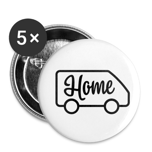 Home in a van - Autonaut.com - Buttons small 1''/25 mm (5-pack)