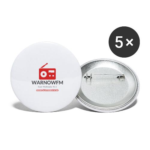 red radio - Buttons klein 25 mm (5er Pack)