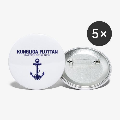 Kungliga Flottan - Swedish Royal Navy - ankare - Små knappar 25 mm (5-pack)