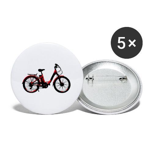 E Bike Elektrorad Shirt - Buttons klein 25 mm (5er Pack)