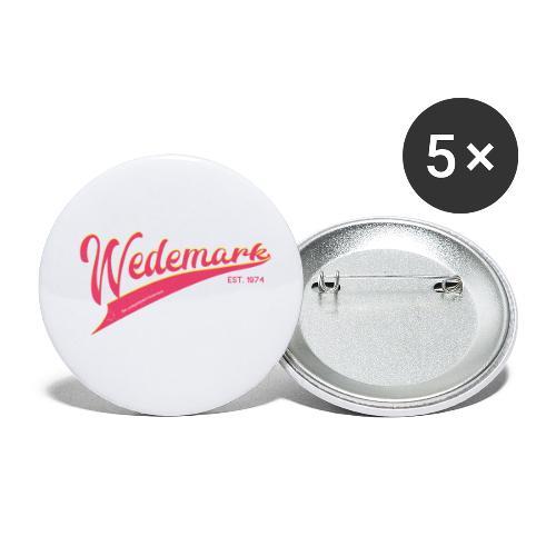 Wedemark retro surfer style - Buttons klein 25 mm (5er Pack)