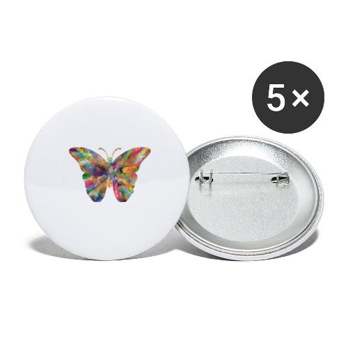 Butterfly - Buttons klein 25 mm (5er Pack)