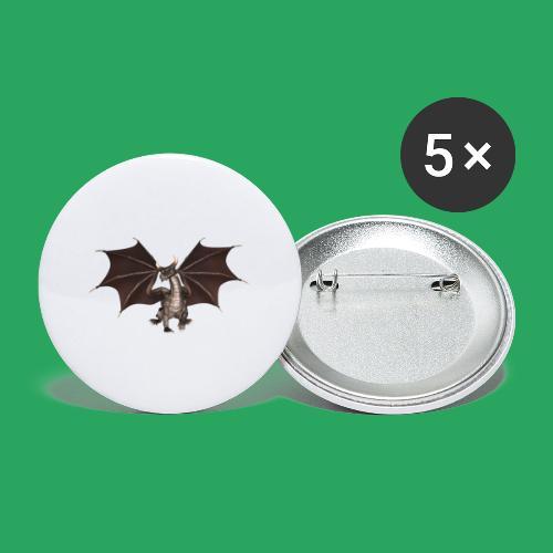 dragon logo color - Confezione da 5 spille piccole (25 mm)