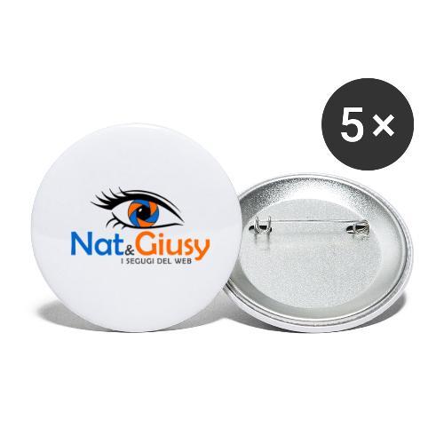 Nat e Giusy - Confezione da 5 spille piccole (25 mm)
