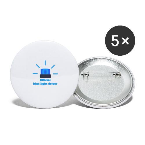 Blue light driver - Buttons klein 25 mm (5er Pack)